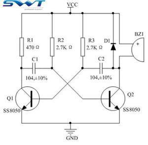 无源蜂鸣器驱动电路改进(图为无源蜂鸣器驱动电路)