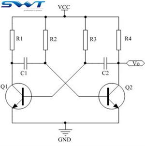 无源蜂鸣器驱动电路-三极管多谐振荡电路