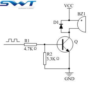 无源蜂鸣器驱动电路改进(图为无源蜂鸣器常规驱动电路)